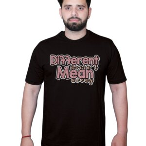 Different Doesn't Mean Wrong Tshirt Black Front