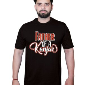Father of a Kanjar TShirt Black Front1