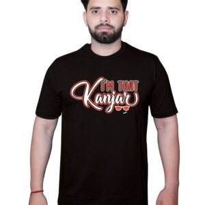 I am that Kanjar Tshirt Black Front1