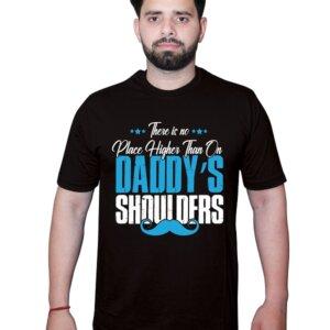 Place higher than Daddy Shoulder Black Tshirt1