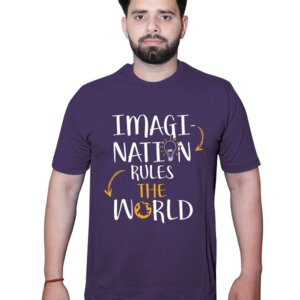 Imagination Rules The World Tshirt Purple Front