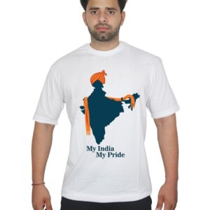 My Pride My India Map Tshirt White Front