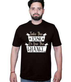 Take-the-Risk-or-Lose-the-Chance-Tshirt-Black-Front1.jpg